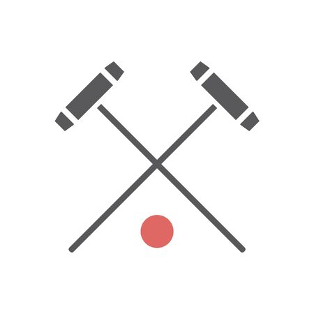 Polo mallet icon. Vector sport signs for web graphics.