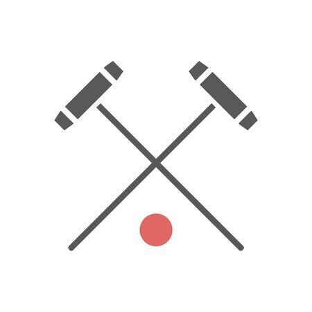 Poloschläger-Symbol. Vektorsportzeichen für Webgrafiken. Vektorgrafik