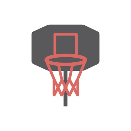 Basketball hoop icon. Vector signs for web graphics. Ilustrace