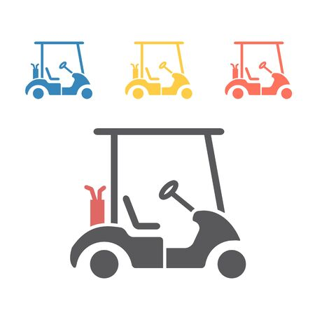 Golf car. Vector signs for web graphics