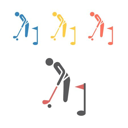 Golf player icon. Vector signs for web graphics Ilustrace