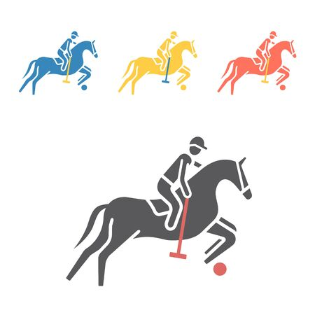 Polo player icon. Vector signs for web graphics. Illustration