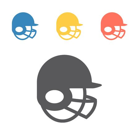 Soft ball Helmet. Vector signs for web graphics Ilustrace
