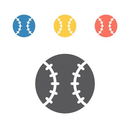 Baseball ball icon. Vector sport signs for web graphics.