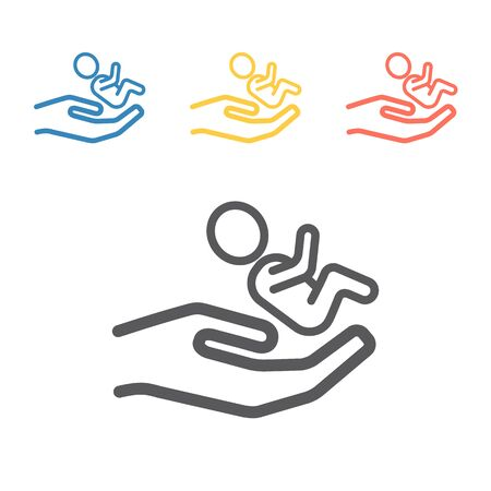 Adoption line icon. Vector signs for web graphics