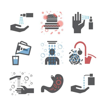 Hygiene icons set. Vector signs for web graphics