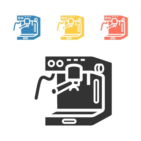 Coffee maker machine icon . Vector signs for web graphics.
