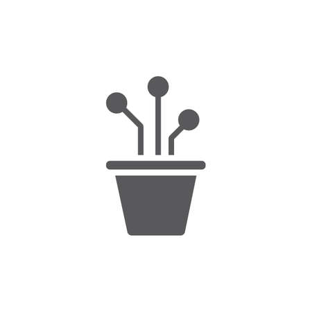Plant pot icon. Vector signs for web graphics. Фото со стока - 155707813