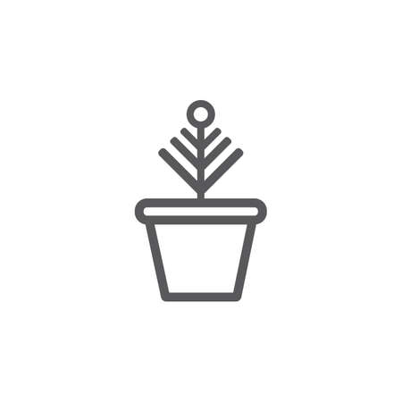 Plant pot line icon. Vector signs for web graphics. Иллюстрация