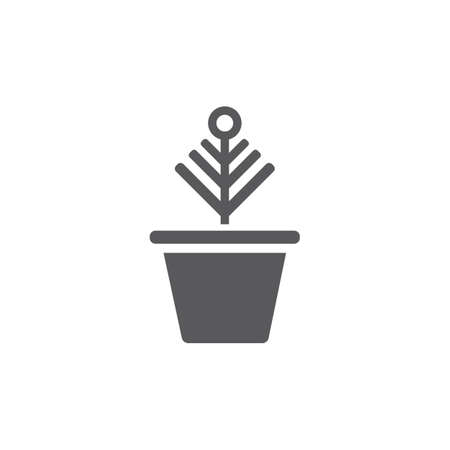 Plant pot icon. Vector signs for web graphics.