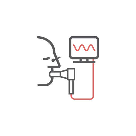 Spirometry line Icon. Vector signs for web graphics.