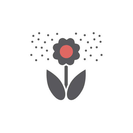 Flower pollen flat icon. Vector icon for web graphic.