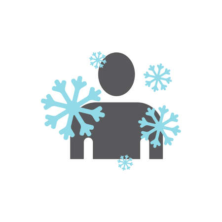 The man froze Vector sign for web graphic.