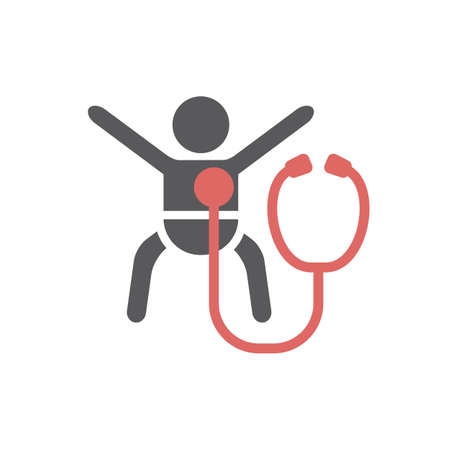 Diagnosis for children line icon. Vector signs.