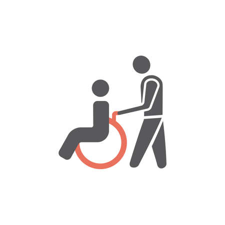 Disabled icon Vector sign for web graphic.