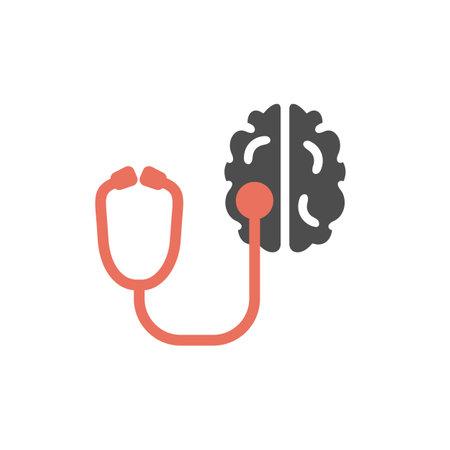 Brain diagnostics icon. Vector sign for web graphics.
