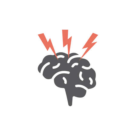 Brain damage icon. Vector sign for web graphics. Ilustrace