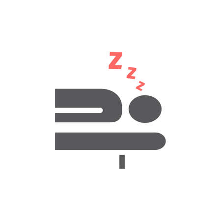 Sleeping icon design. Vector sign for web graphic.