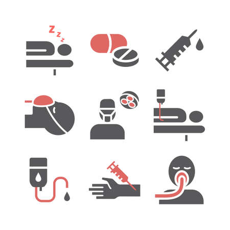 Anesthesia Flat icons. Anaesthetic Department. Health center. Vector sign for web graphics.