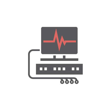 Cardiogram line icon. Vector sign for web graphic.