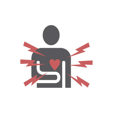 Heart pain icon. Vector sign for web graphics