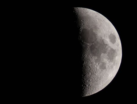 the moon by telescope Stock Photo - 12440441