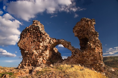 ruins of an ancient castle in albacete province (spain), built by muslim culture