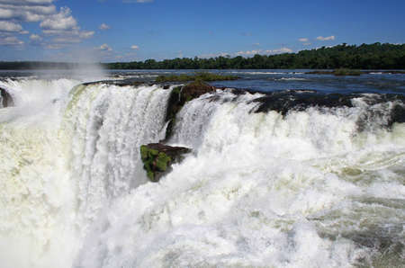 located between brazil and argentina, the iguazu waterfalls are one of the most important turistic destinations Stock Photo