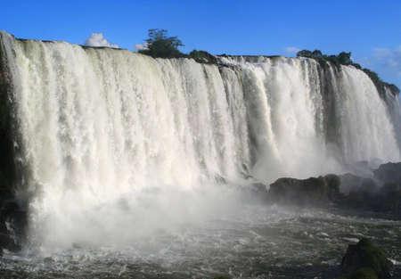 Brazilian side of  Iguazu Falls Stock Photo