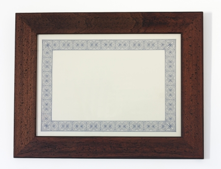 a picture frame isolated on white, for filling with text or picture photo