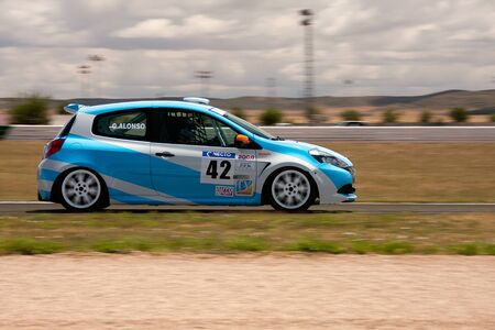 ALBACETE, SPAIN - JUN 5: spanish driver gabriel alonso in Renault Clio car, in the resistance cup of spain, on june 5, 2011, in Albacete, Spain