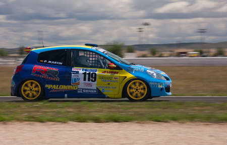 ALBACETE, SPAIN - JUN 5: spanish driver pablo martin in Renault team car, in the resistance cup of spain, on june 5, 2011, in Albacete, Spain