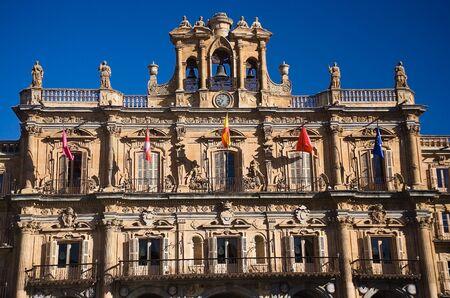 patrimony: city hall  facade of the salamanca  spain