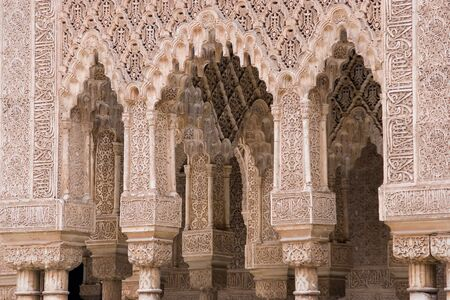 Decorated arches in the palace