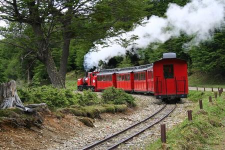 この電車は、世界の最後の列車として知られている、ウシュアイア、アルゼンチンのパタゴニアの内部の動作