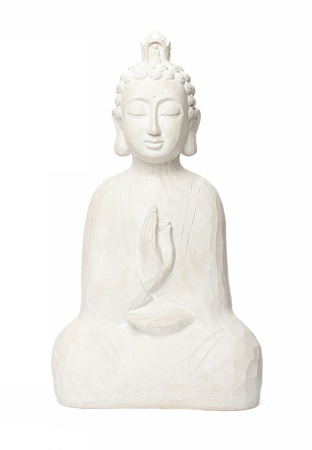budha sculpture isolated on white Stock Photo - 14799629