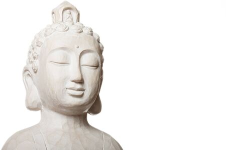 budha sculpture isolated on white Stock Photo - 14799630