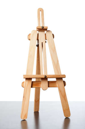 an empty easel for putting a board in it