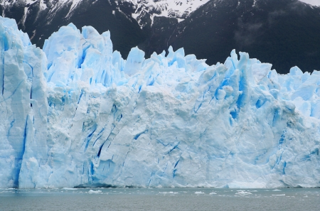 details of cracks in perito moreno glacier photo