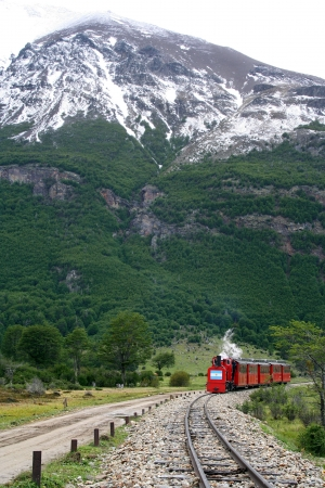 The train of the End of the World, in Ushuaia  Argentina , is coming photo