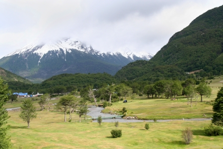 landscape in tierra del fuego national park, in ushuaia  Argentina