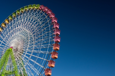ferris wheel isolated on blue, working in the fair of Albacete photo