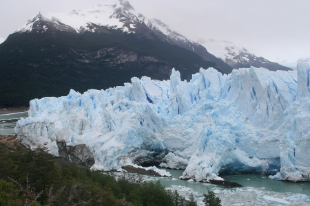 majestic famous glacier, perito moreno glacier is one of the greatest turistic places in argentina photo