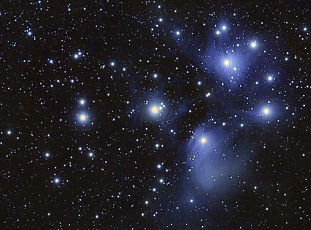 A Stars cluster and nebula, taken with apochromatic telescope photo