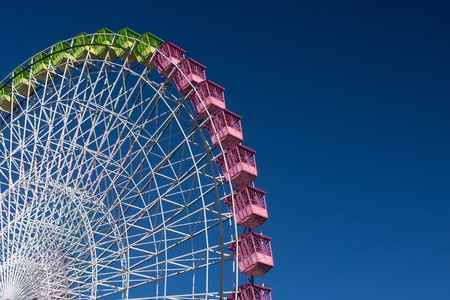 ferris wheel isolated on blue, working in the fair of Albacete