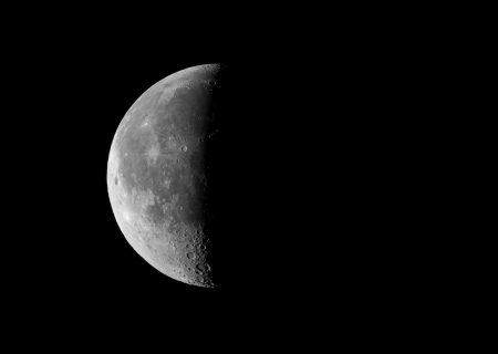 picture of the third  last  quarter moon, taken by telescope