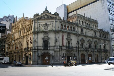 buenos: BUENOS AIRES, ARGENTINA - NOVEMBER 12: Cervantes National Theatre in Buenos Aires is the national stage and comedy theatre of Argentina, on November 12, 2006, in Buenos Aires, Argentina Editorial