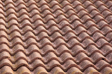 abstract view of a tiles roof, for backgrounds uses