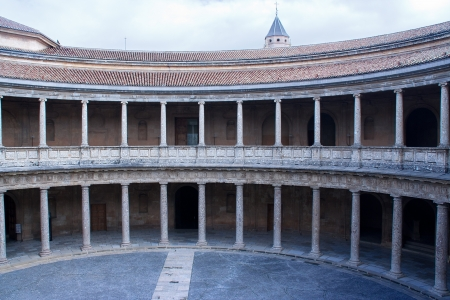 picture of Carlos V palace, that is located inside of Alhambra palace, in granada, spain