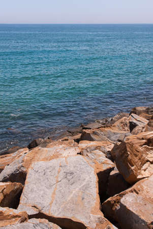 rocks at the coastline in torrevieja, can be used for filling with a message Stock Photo - 18081728